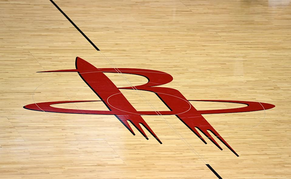 The Houston Rockets center court logo