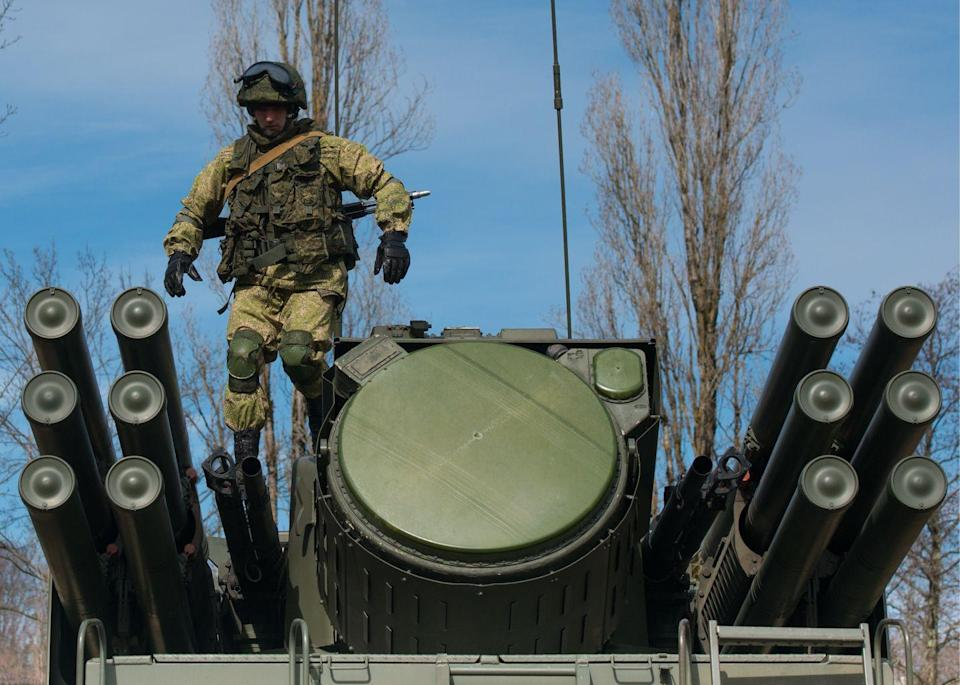 """<p>The United States experienced a huge win for the intelligence community in June 2020 by acquiring Russia's most advanced anti-aircraft missile, <a href=""""https://www.popularmechanics.com/military/weapons/a35353691/air-force-acquires-new-russian-missile-system-pantsir-libya/"""" rel=""""nofollow noopener"""" target=""""_blank"""" data-ylk=""""slk:the Pantsir S-1"""" class=""""link rapid-noclick-resp"""">the Pantsir S-1</a>, from Libyan forces. The Pantsir S-1 is a low-altitude air defense system, mounted on the back of a military truck. It has recently been used in Libyan and Syrian war zones. The U.S. Air Force transported the weapon out of the country and has since moved it to an unknown location. </p>"""