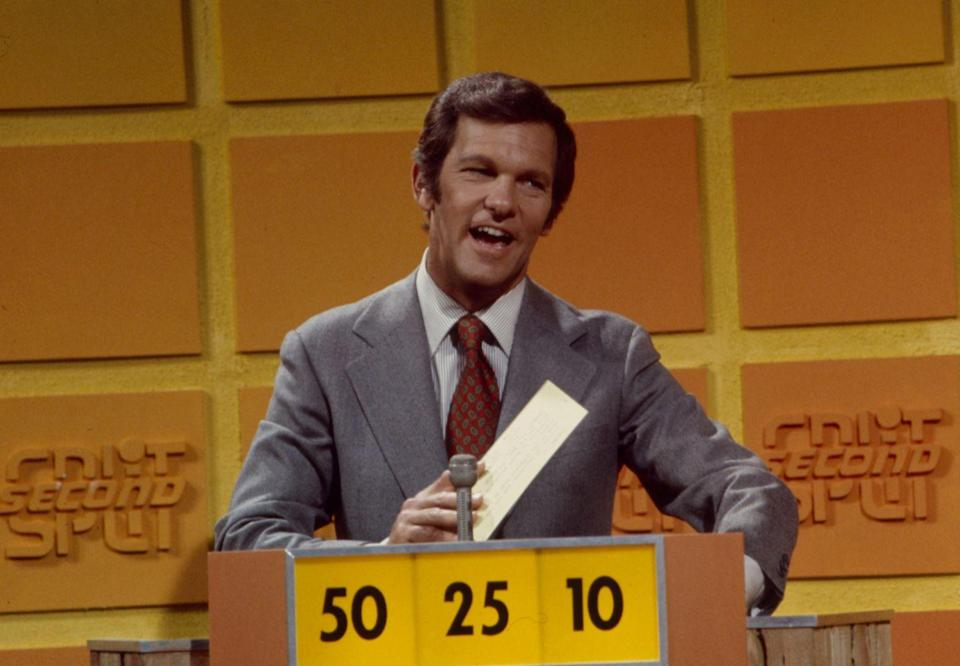 <p>Created by the legendary Monty Hall and Stefan Hatos in 1972, <em>Split Second </em>started airing on ABC's daytime television programming block. Contestants would try to answer questions on a wide range of topics as fast as possible. The show was eventually replaced in the lineup by a soap opera. </p>