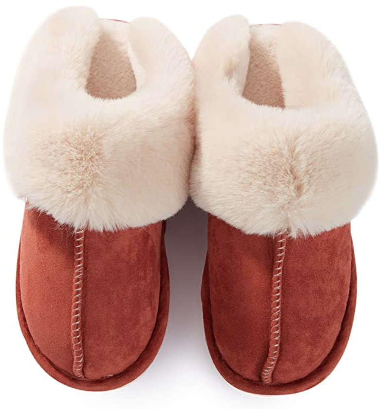 In brick red, they feel earthy and snuggly at the same time. (Photo: Amazon)