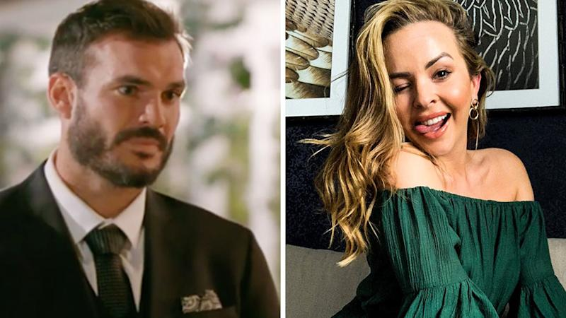 Angie Kent has called out Bachelor Locky Gilbert's Instagram 'liking spree'. Photo: Channel 10, Instagram/angiekent_.