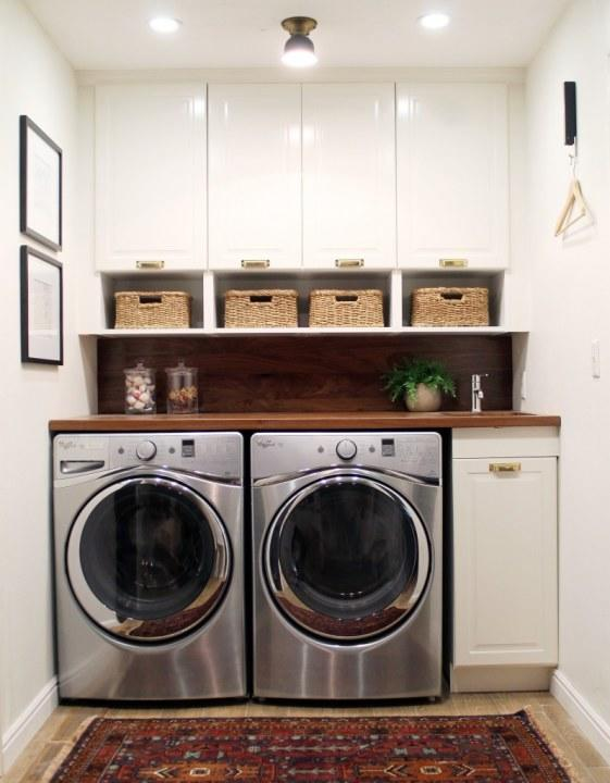 Doing laundry is more fun when you're not stuck in a dingy corner.