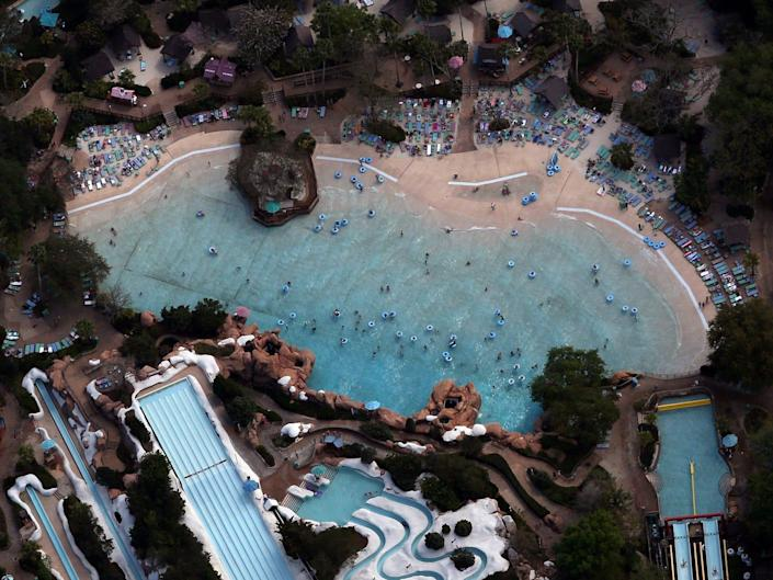 Disney's Blizzard Beach Water Park on final day before closing.