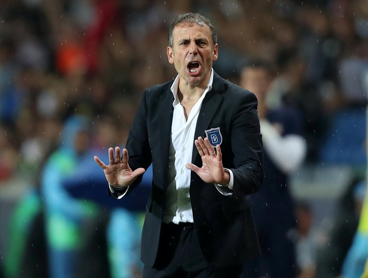 Soccer Football - Champions League - Istanbul Basaksehir vs Sevilla - Qualifying Play-Off First Leg - Istanbul, Turkey - August 16, 2017   Istanbul Basaksehir coach Abdullah Avci   REUTERS/Osman Orsal