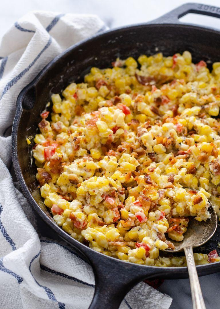 """<p>This easy recipe uses frozen sweet corn so you can make it any time of the year. Toss it together with bell peppers, cream cheese, and bacon for a side dish the whole family will love.</p><p><a href=""""https://www.thepioneerwoman.com/food-cooking/recipes/a104938/cream-cheese-and-bacon-corn/"""" rel=""""nofollow noopener"""" target=""""_blank"""" data-ylk=""""slk:Get the recipe."""" class=""""link rapid-noclick-resp""""><strong>Get the recipe. </strong></a></p><p><a class=""""link rapid-noclick-resp"""" href=""""https://go.redirectingat.com?id=74968X1596630&url=https%3A%2F%2Fwww.walmart.com%2Fsearch%2F%3Fquery%3Dcast%2Biron%2Bskillet&sref=https%3A%2F%2Fwww.thepioneerwoman.com%2Ffood-cooking%2Fmeals-menus%2Fg37350610%2Fvegetable-side-dishes%2F"""" rel=""""nofollow noopener"""" target=""""_blank"""" data-ylk=""""slk:SHOP CAST IRON SKILLETS"""">SHOP CAST IRON SKILLETS</a></p>"""