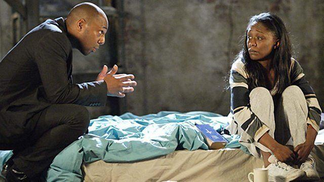 Lucas and Denise in EastEnders (Photo: BBC)