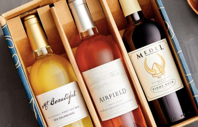 "Blue Apron has a great <a href=""https://www.blueapron.com/wine"" target=""_blank"">wine delivery subscription service</a> that averages about $10 a bottle."