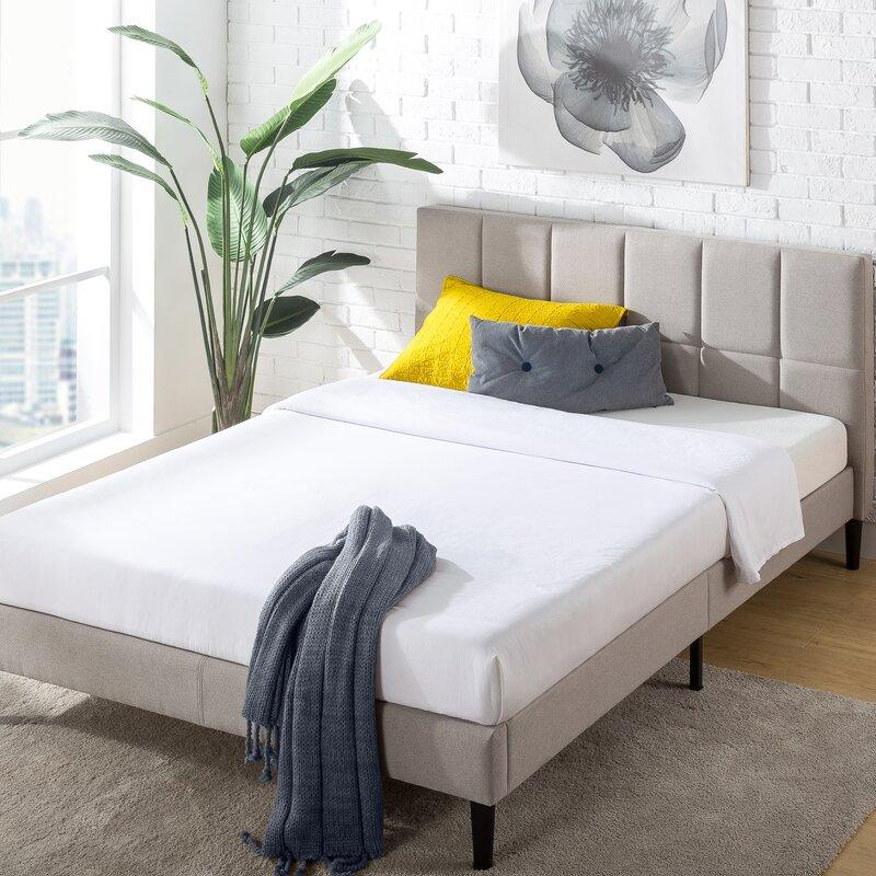 Colby Tufted Upholstered Low Profile Platform Bed