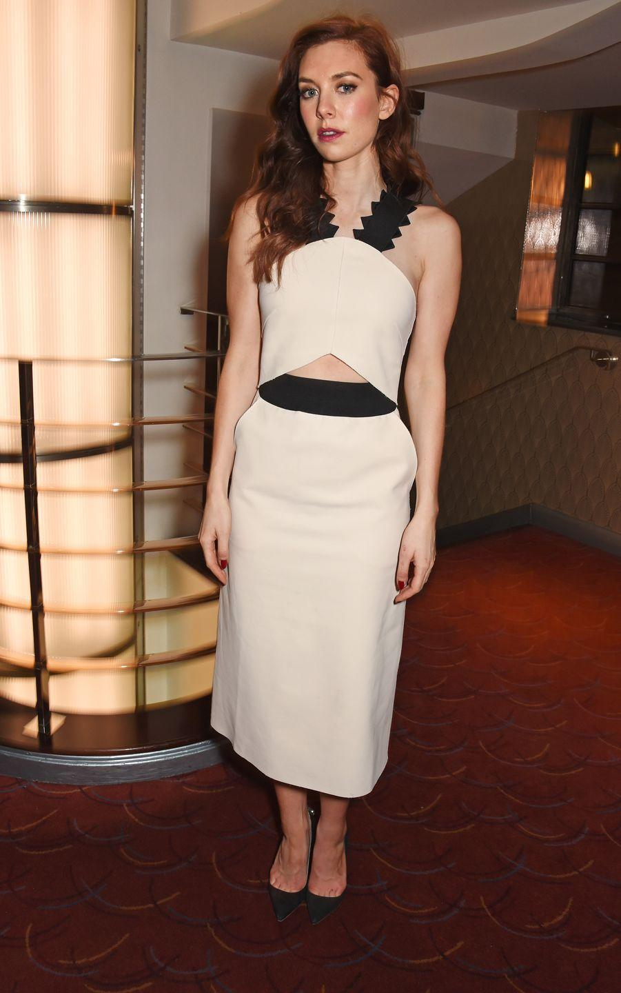 <p>Kirby poses in the press room at the Prince of Wales Theatre in London.<br></p>