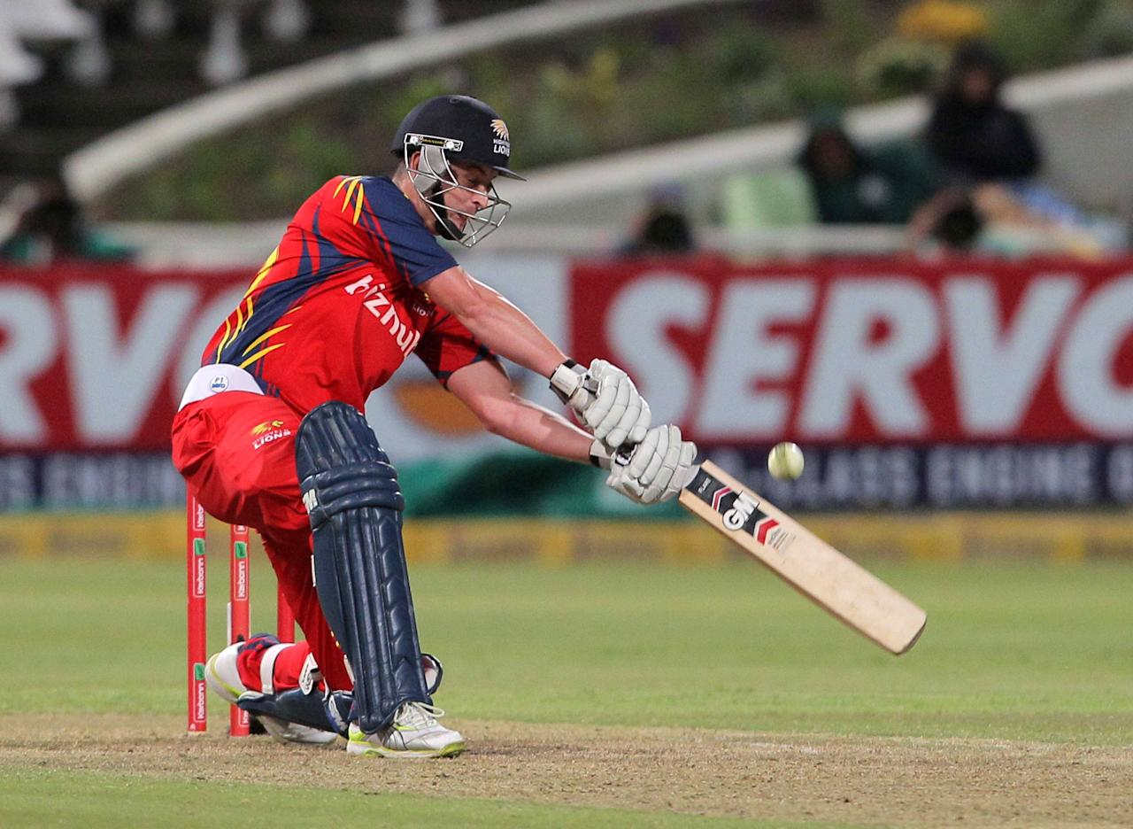 CAPE TOWN, SOUTH AFRCA - OCTOBER 16:  Jean Symes of the Highveld Lions bats during the Karbonn Smart CLT20 match between Chennai Super Kings (IPL) and Highveld Lions (South Africa) at Sahara Park Newlands on October 16, 2012 in Cape Town, South Africa.  (Photo by Carl Fourie/Gallo Images/Getty Images)