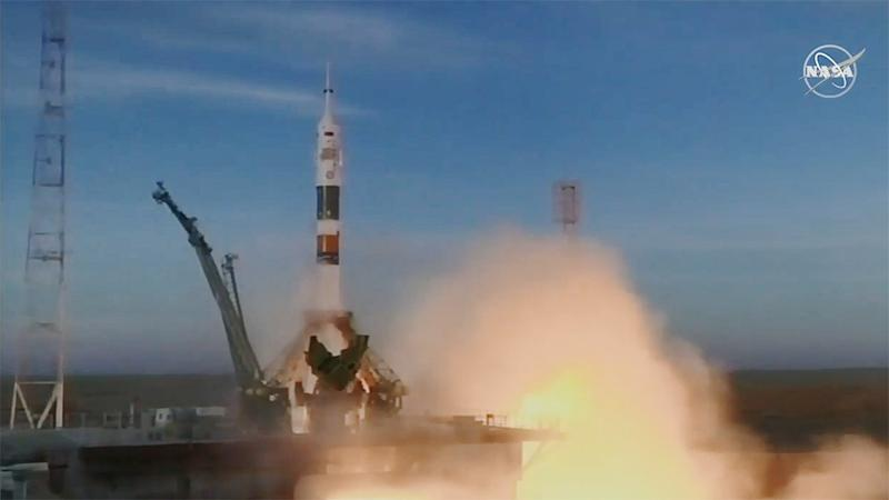 Russian Federation  launches first manned voyage to ISS since rocket accident
