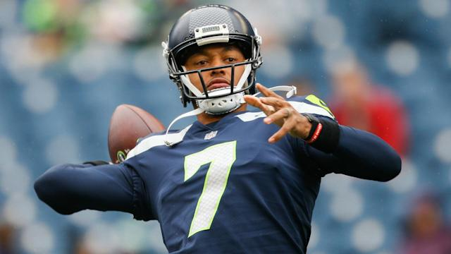 <span>Former Seahawks quarterback Brett Hundley has agreed to a one-year contract with the Cardinals. (Getty)</span>