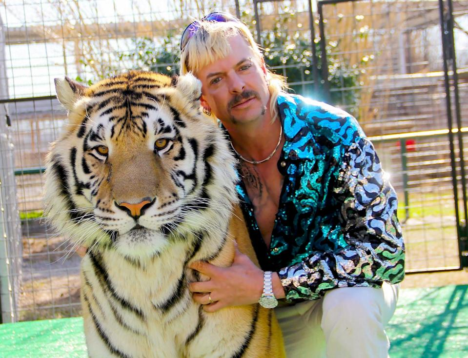 """Tiger King,"" starring Joe Exotic, is now available for streaming on Netflix."