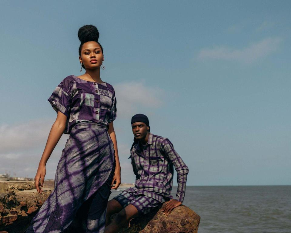<p>Unisex designer Larry Jay, who debuted his eponymous label in 2017 and finds inspiration in everything from nature and African culture to the arts, looked to the 1970s generation – specifically his parents, who modelled his collection.</p>