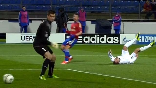 Embarrassing own goal in Champions League play