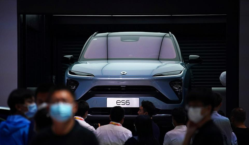 A Nio ES6 electric SUV on display at the Beijing International Automotive Exhibition in September this year. Photo: Reuters