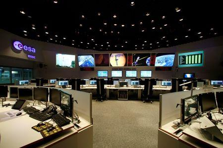 The main control room of the European Space Operations Centre (ESOC) is pictured in Darmstadt, Germany June 17, 2016. REUTERS/Ralph Orlowski