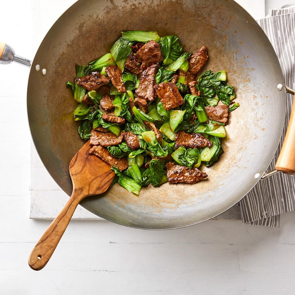 <p>All of the ingredients for this easy beef stir-fry recipe are cooked in one wok (or skillet), so not only is the meal-prep fast for this healthy dinner, cleanup is quick too. Look for Lee Kum Kee Premium oyster-flavored sauce in the Asian-foods aisle of your grocery store. It has the most concentrated oyster flavor.</p>