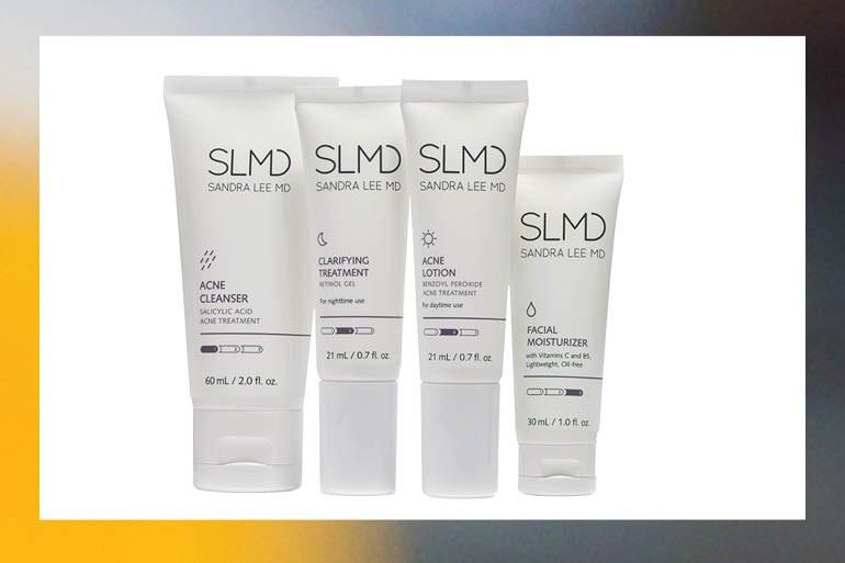 Dermatologist Dr. Sandra Lee, also known as Dr. Pimple Popper, launched her SLMD skin-care line, which includes cleanser, acne treatments, and moisturizer.