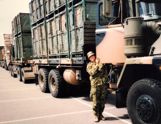 Carrie-Anne joined the Army in 2002. Photos: Supplied/Carrie-Anne