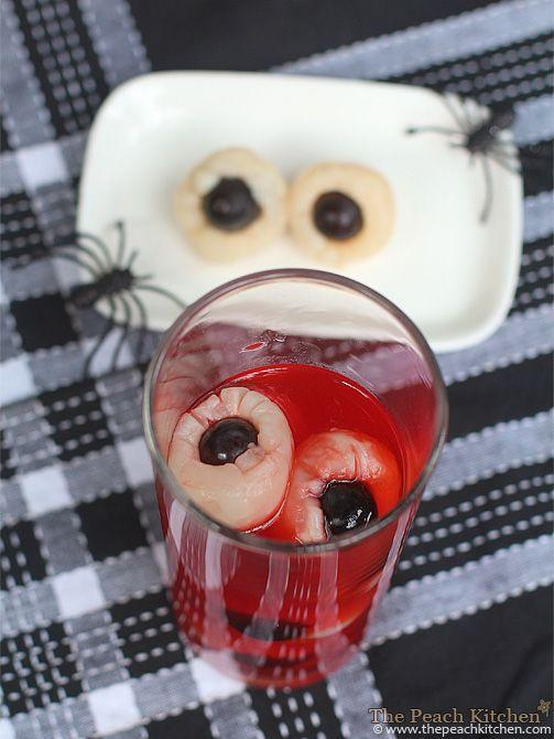 """<p>Black grapes stuffed in canned lychees make the chilling effect of eyeballs submerged in a spooky substance. This punch will be sure to cause a fright fest on October 31!</p><p><strong>Get the recipe at <a href=""""https://www.thepeachkitchen.com/2013/09/spooky-halloween-punch-my-first-post-for-the-halloween-season/"""" rel=""""nofollow noopener"""" target=""""_blank"""" data-ylk=""""slk:The Peach Kitchen"""" class=""""link rapid-noclick-resp"""">The Peach Kitchen</a>.</strong></p><p><a class=""""link rapid-noclick-resp"""" href=""""https://go.redirectingat.com?id=74968X1596630&url=https%3A%2F%2Fwww.walmart.com%2Fsearch%3Fq%3Dglasses&sref=https%3A%2F%2Fwww.thepioneerwoman.com%2Fholidays-celebrations%2Fg36792938%2Fhalloween-punch-recipes%2F"""" rel=""""nofollow noopener"""" target=""""_blank"""" data-ylk=""""slk:SHOP GLASSES"""">SHOP GLASSES</a></p>"""