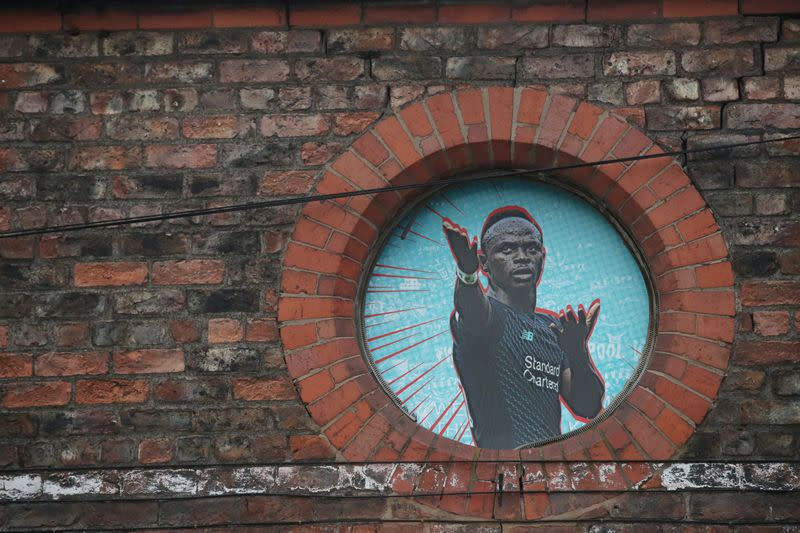 FILE PHOTO: General view of street art in Liverpool after Liverpool FC won the Premier League