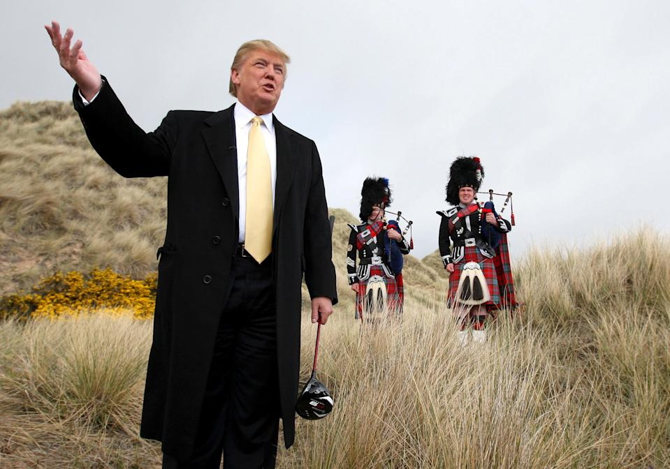 Donald Trump was eventually granted planning permission to build a gold course on the Menie Estate in Aberdeenshire (Andrew Milligan/PA)