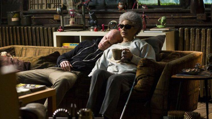 Ryan Reynolds as Wade Wilson leans on Leslie Uggams as 'Blind Al' for support in 'Deadpool'