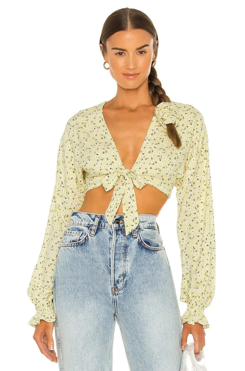 <p>This floral <span>Majorelle Giovanna Top</span> ($148) screams spring and summer.</p>