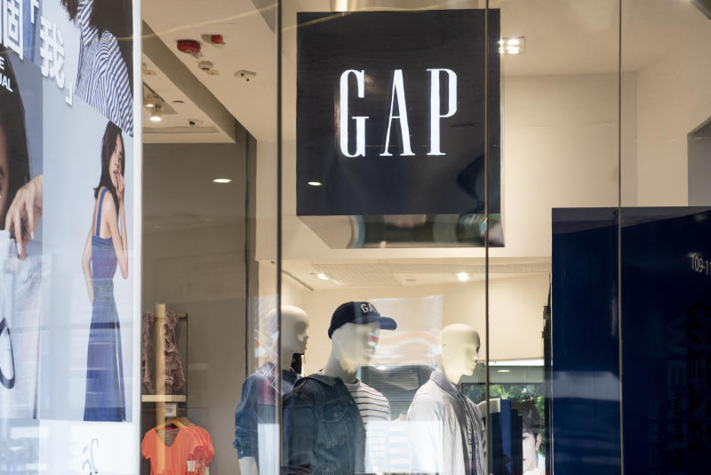 HONG KONG, CHINA - 2019/08/30: American clothing and accessories retailer brand GAP store and logo seen in Hong Kong. (Photo by Budrul Chukrut/SOPA Images/LightRocket via Getty Images)