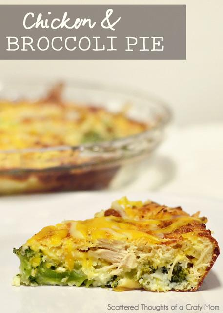 """Photo: Scattered Thoughts of a Crafty Mom<br> Chicken and Broccoli Pie<br><br> We're huge fans of the cozy, home-style comfort food <a href=""""http://shine.yahoo.com/shine-food/meet-jamie-scattered-thoughts-crafty-mom-septembers-shine-192000878.html"""" data-ylk=""""slk:Jamie;outcm:mb_qualified_link;_E:mb_qualified_link;ct:story;"""" class=""""link rapid-noclick-resp yahoo-link"""">Jamie</a> whips up, and this savory pie is no exception.<br><br> Recipe: <a href=""""http://www.scatteredthoughtsofacraftymom.com/2013/01/chicken-and-broccoli-pie.html#"""" rel=""""nofollow noopener"""" target=""""_blank"""" data-ylk=""""slk:Chicken and Broccoli Pie"""" class=""""link rapid-noclick-resp"""">Chicken and Broccoli Pie</a>"""