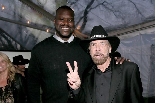 Shaquille O'Neal and John Paul DeJoria at the Forbes 30 Under 30 party at the estate of John Paul & Elois DeJoria during the South By Southwest Festival on March 11, 2013 in Austin, Texas.