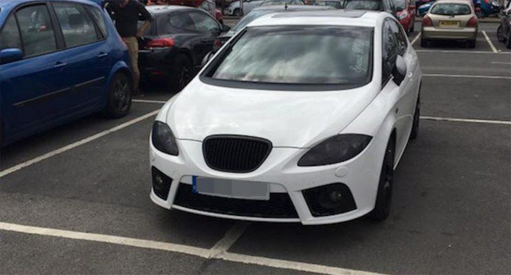 The car was also pictured across two bays (Picture: Richard Serafin)