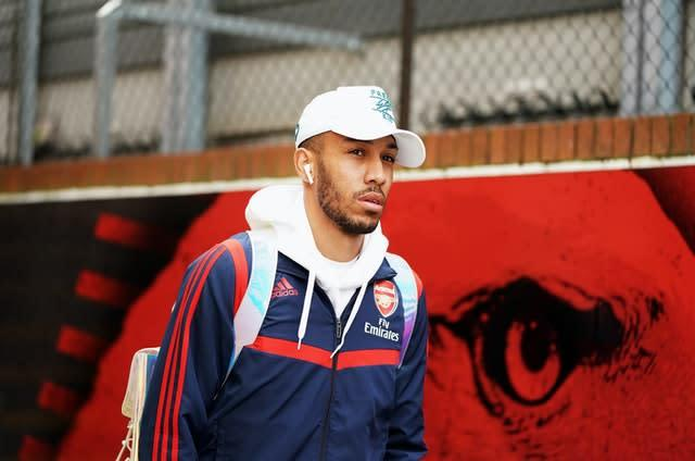 Could Pierre-Emerick Aubameyang be packing his bags? (Tess Derry/PA)