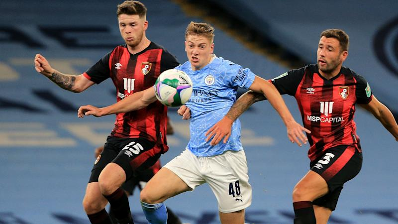 Delap to stay with Man City first-team after debut strike