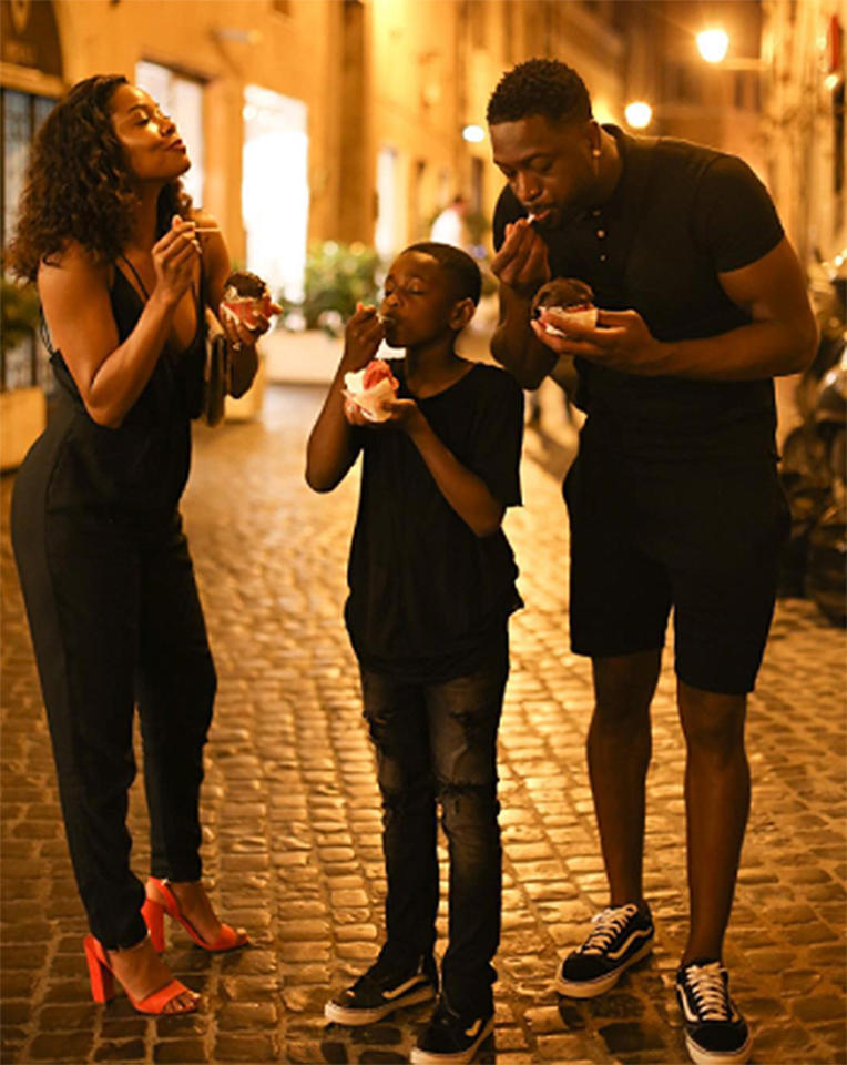 "<p>…should always be followed by gelato. (Photo: <a rel=""nofollow"" href=""https://www.instagram.com/p/BVf2buegqHH/?hl=en"">Dwyane Wade via Instagram</a>) </p>"