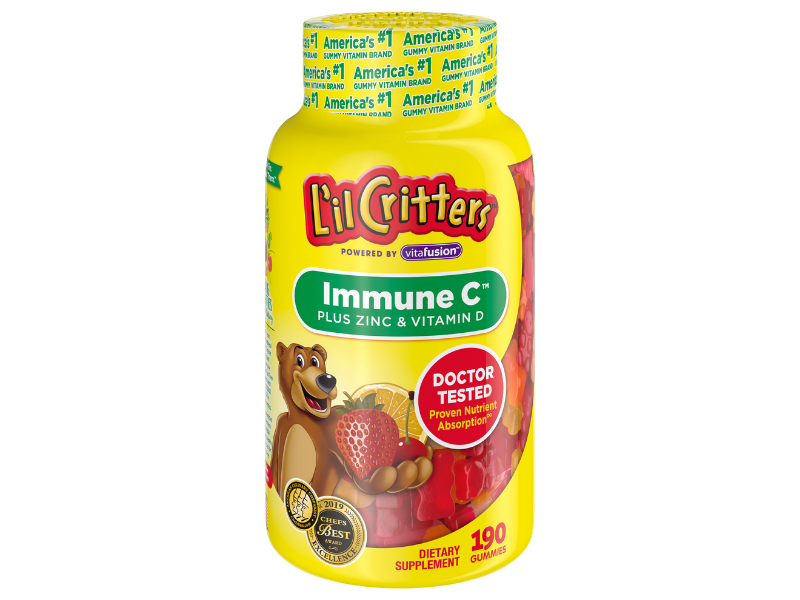 L'il Critters Kids Immune C plus Zinc and Vitamin D, 190-count. (Photo: Walmart)