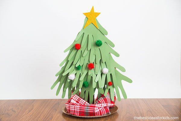 "<p>Layers upon layers of kids handprints traced onto green paper create a Christmas tree shape. Dot with pompom ornaments and top with a gold star. Recycle a paper towel roll to use as the trunk, and use a paper plate for the stand.</p><p><em><a href=""https://www.thebestideasforkids.com/handprint-christmas-tree/"" rel=""nofollow noopener"" target=""_blank"" data-ylk=""slk:Get the tutorial at The Best Ideas for Kids»"" class=""link rapid-noclick-resp"">Get the tutorial at The Best Ideas for Kids»</a> </em></p>"