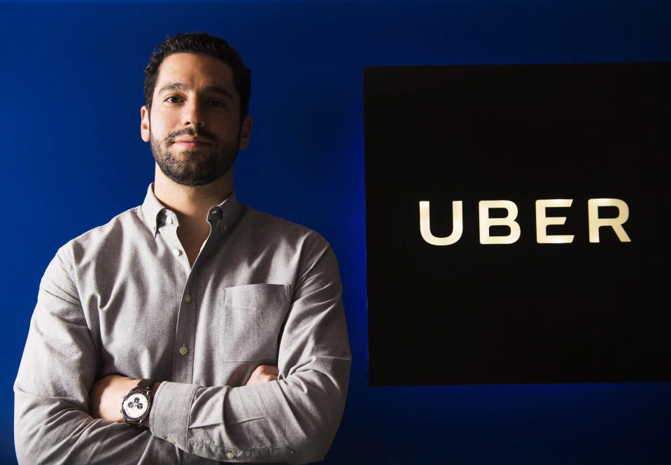 Uber Canada's recently-appointed general manager Rob Khazzam poses for a photograph in Toronto on Wednesday, January 17, 2018. (THE CANADIAN PRESS/Nathan Denette)