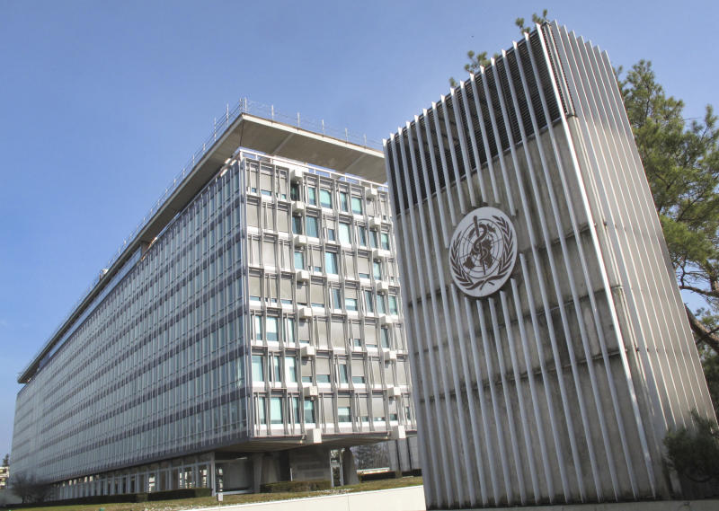 This Wednesday, March 11, 2015 photo shows the World Health Organization (WHO) headquarters building in Geneva, Switzerland. In a delay that some say may have cost lives, the World Health Organization resisted calling the Ebola outbreak in West Africa a public health emergency until the summer of 2014, two months after staff raised the possibility and long after a senior manager called for a drastic change in strategy, The Associated Press has learned. (AP Photo/Raphael Satter)