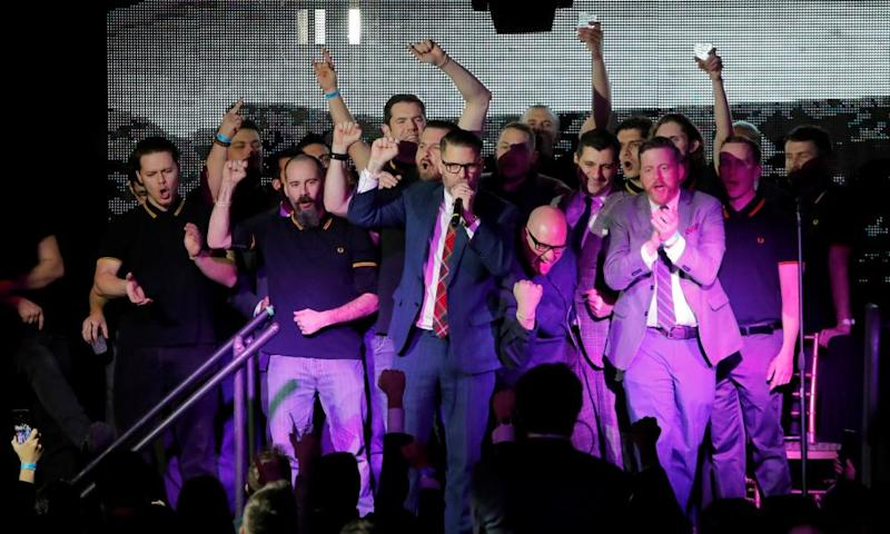 """Vice magazine co-founder Gavin McInnes speaks at """"A Night for Freedom"""" event."""