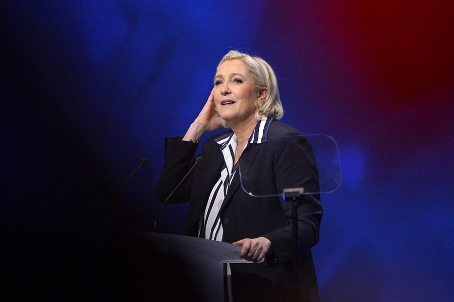 """<p>Presidential candidate Marine Le Pen has been outspoken about opposing the hijab and has said that, if elected, she would ban all religious symbols in public places. Le Pen caused controversy in February during a campaign visit to Lebanon when she was to meet with the Grand Mufti but canceled it over a requirement that she wear a headscarf. """"You can pass on my respects to the Grand Mufti,"""" she said, """"but I will not cover myself up."""" (Photo: Getty Images) </p>"""