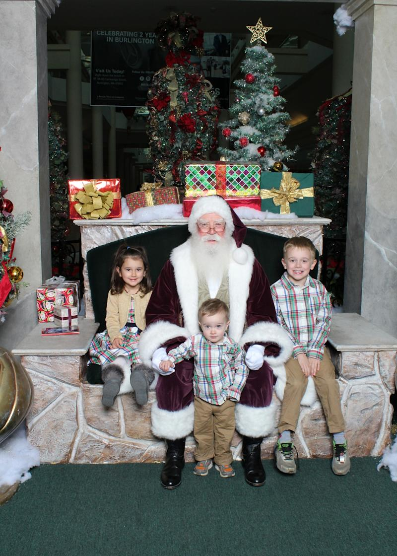 Keeping lights low during the Santa visit can help avoid overstimulating a child. (Photo: Courtesy of Cherry Hill Programs)