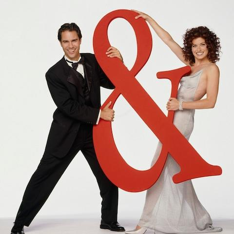 Debra Messing and Eric McCormack pose in a promo shot for Will & Grace - Credit:  Bill Reitzel/NBC Universal