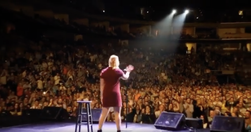 Amy Schumer at BOK Center in 2016. (Screenshot: Marcus Russell Price/ Amy Schumer via Instagram)