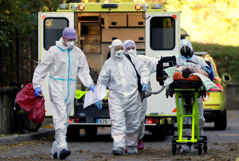 FILE PHOTO: Coronavirus disease (COVID-19) outbreak in Prague