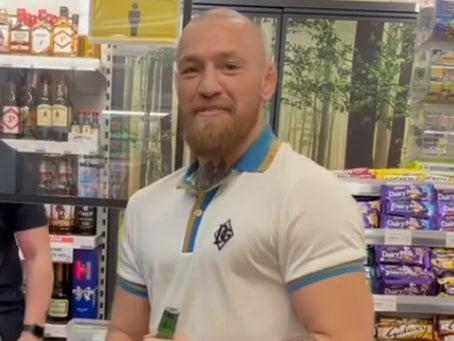 Conor McGregor visits a supermarket in Ireland without wearing a face mask (@thenotoriousmma via Instagram)