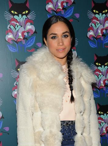 "<p>Introducing Meghan like you've never seen her before. Clad in Miu Miu for the Miu Miu Women's Tales 7th Edition ""Spark & Light"" Screening in 2014, the former actress opted for a low plait with a middle part. Love. (Photo: Getty Images) </p>"