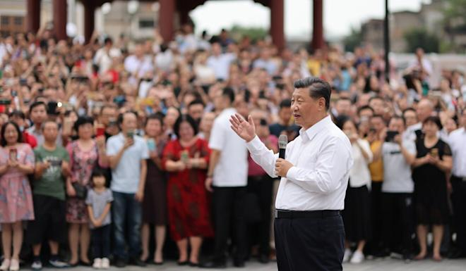 Chinese President Xi Jinping speaks to a crowd in Shantou, Guangdong province, on Tuesday. Photo: Xinhua