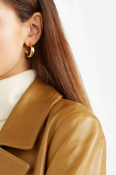 Kenneth Jay Lane Gold-Tone Hoops.